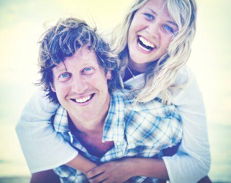 getaways: Couple Beach Bonding Getaway Romance Holiday Concept
