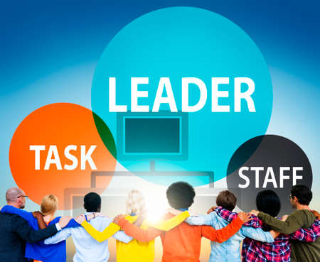 authoritarian: Leader Leadership Manager Task Staff Concept