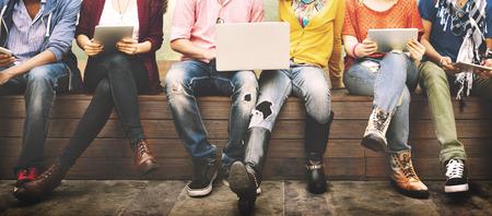 Tieners Jonge team samen Vrolijke Concept Stockfoto - 46312815