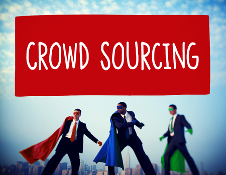 sourced: Crowedsourcing Collaboration Group Online Community Concept Stock Photo