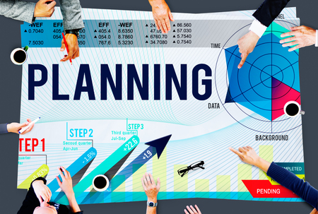 planning strategy: Business Planning Data Analysis Strategy Concept