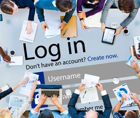 identity protection: Log in Password Identity Internet Online Privacy Protection Concept