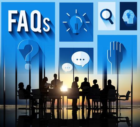 자주 묻는 질문 (FAQ) 도움말 inforamtion에 응답 개념