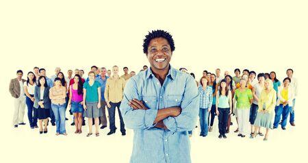 etnia: Multitud Comunidad Etnia Diverse Variaci�n
