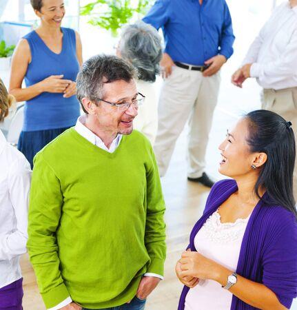 senior business man: Group Business Meeting Teamwork Collaboration Concept Stock Photo
