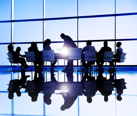 meeting place: Business People Meeting Discussion Communication Concept Stock Photo