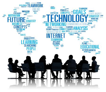 comunicação: Conexão Tecnologia Rede Global de Conceito Comunicação