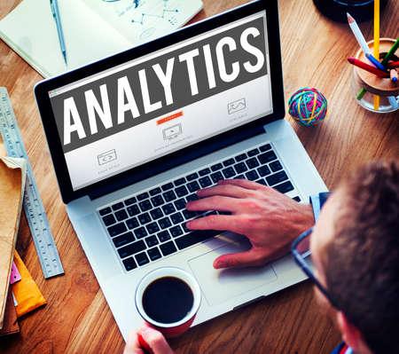 business research: Analytics Analysis Data Information Planning Statistics Concept