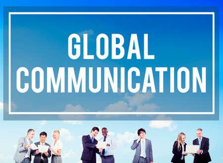 globalization: Global Communication Globalization Connection Communicate Concept Stock Photo