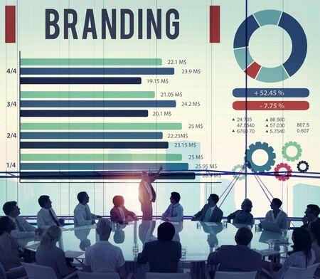 planning diagram: Brand Branding Copyright Advertising Banner Concept