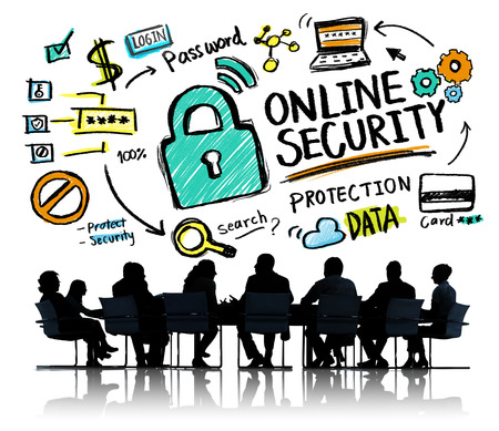 internet safety: Online Security Protection Internet Safety Business Meeting Concept