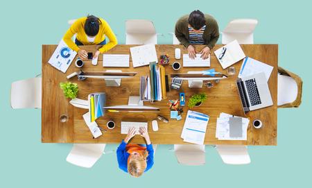 trabajando: Negocio Oficina Personas Lugar de Trabajo de Concepto Trabajo