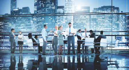 teamwork people: Business People Teamwork Meeting Seminar Conference Concept