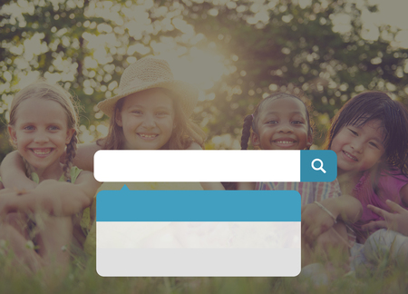 schoolkid search: Search Searching Information Summer Leisure Concept Stock Photo