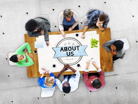 회사 정보 연락 지원 데이터 개념 소개 스톡 콘텐츠