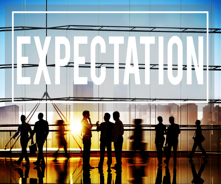 expectation: Expectation Prediction Hope Strategy Planning Concept
