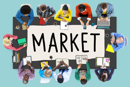 buyer: Market Consumer Product Buyer Marketing Concept Stock Photo