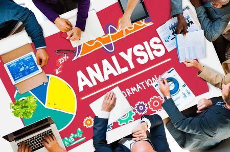 to analyze: Analysis Analytics Analyze Data Information Statistics Concept Stock Photo
