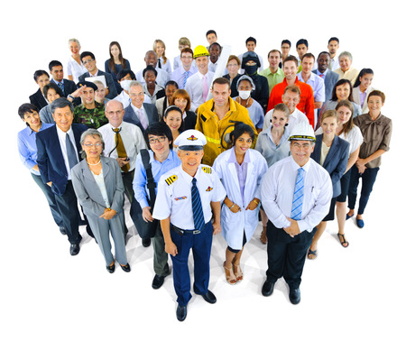 personas de pie: Variedad Ocupación Comunidad Sociedad de las personas Concepto