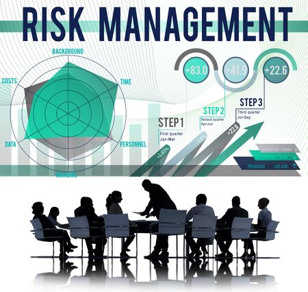 business change: Risk Management Control Security Safety Concept