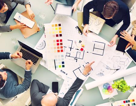 trabajando en equipo: Diseño Planificación Team New Proyecto Trabajo en equipo Concepto