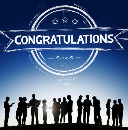 congratulations: Felicidades Acheivement Admiración Celebración Concepto