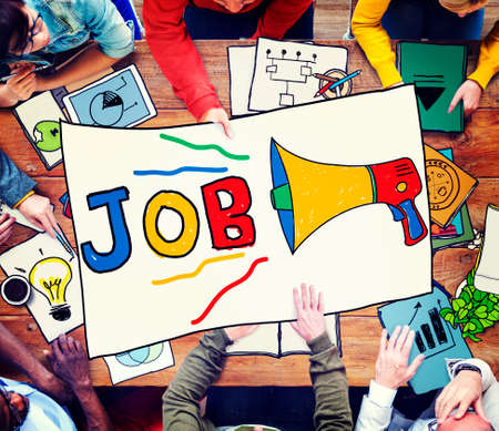 place of employment: Job Career Occupation Recruitment Human Resource Concept