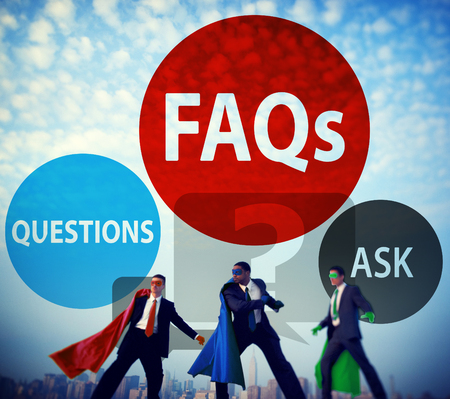 frequently: FAQs Frequently Asked Questions Solution Concept Stock Photo