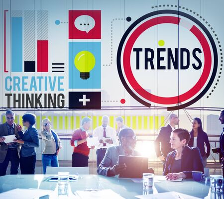 trends: Trends Fashion Marketing Contemporary Trending Concept Stock Photo