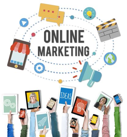 Online Marketing Promotion Campaign Technology Concept Stock Photo - 46356110