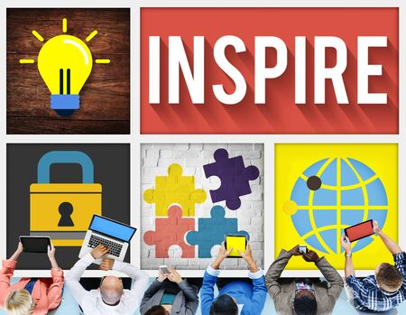 hopeful: Inspire Inspiration Creative Vision Hopeful Concept Stock Photo