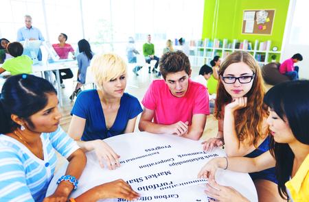 Studenten Universiteit Studeren Project Communicatie Concept