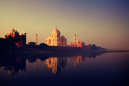 monument in india: Taj Mahal India Seven Wonders Concept