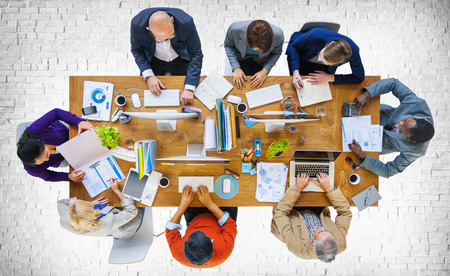 Business People Meeting Corporate Planning Concept Stock Photo