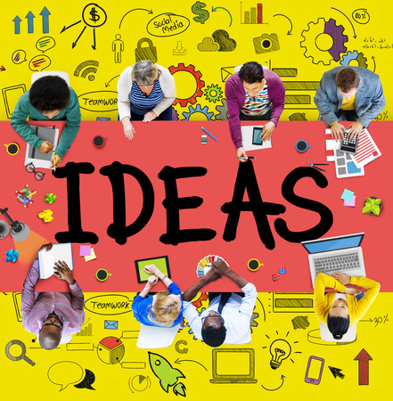 team ideas: Idea Creative Creativity Imgination Innovate Thinking Concept Stock Photo