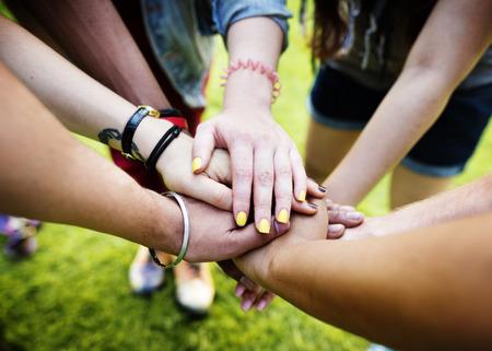 amicizia: Squadra Lavoro di squadra Rapporto Insieme Unit� concetto di amicizia