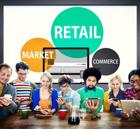 Retail Consumer Commerce Market Purchase Concept Stock Photo