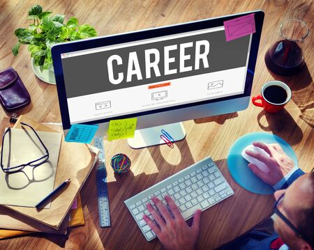 career plan: Career Hiring Occupation Profession Job Concept