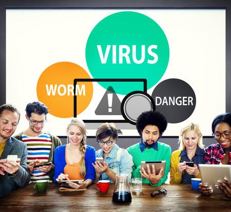 internet security: Virus Internet Security Phishing Spam Concept