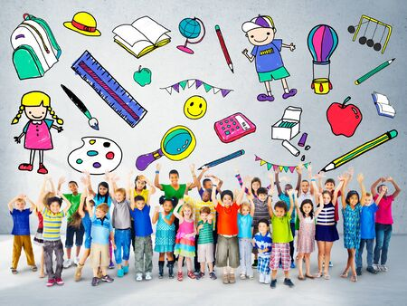 wall paintings: Kids School Education Toys Stuff Young Concept
