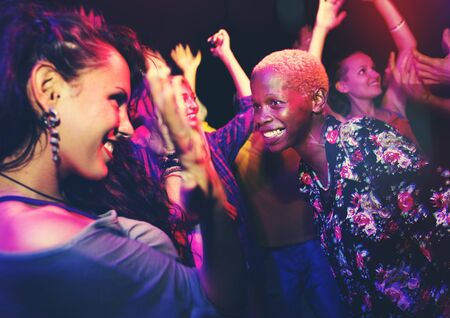 african descent: Diverse Ethnic Friendship Party Leisure Happiness Concept Stock Photo