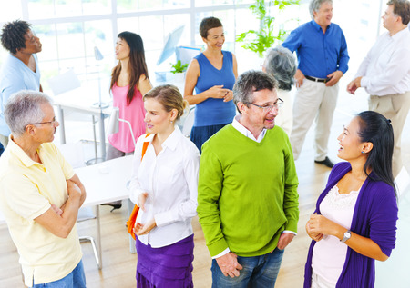 people relax: Group Business Meeting Teamwork Collaboration Concept Stock Photo