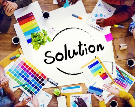 solving problem: Solution Solving Problem Resolve Strategy Concept