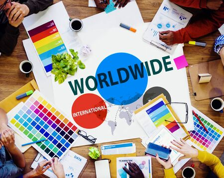 sourcing: Worldwide International Earth Networking Connection Concept