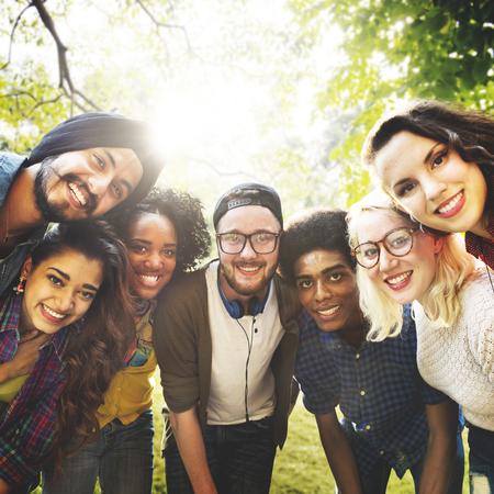 casual people: Diversity Friends Friendship Team Community Concept