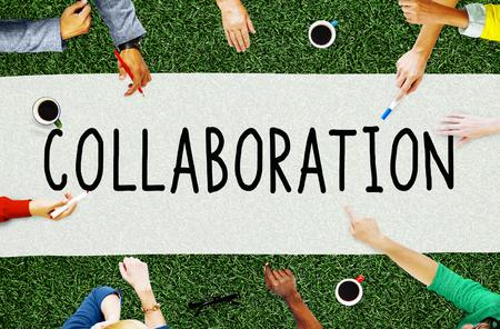 Samenwerking Cooperation Organization Partnership Concept Stockfoto