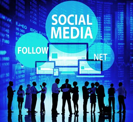 networking people: Social Media Follow Networking Connecting Internet Concept
