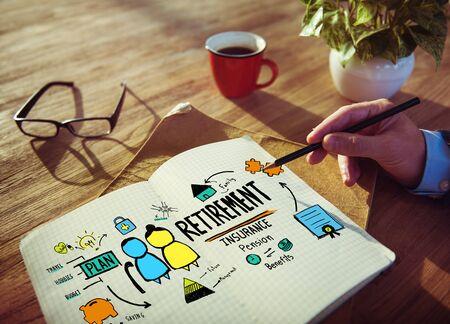 qualification: Businessman Retirement Qualification Sketch Working Concept