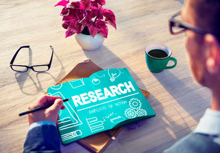 exploration: Research Exploration Facts Feedback Report Concept Stock Photo