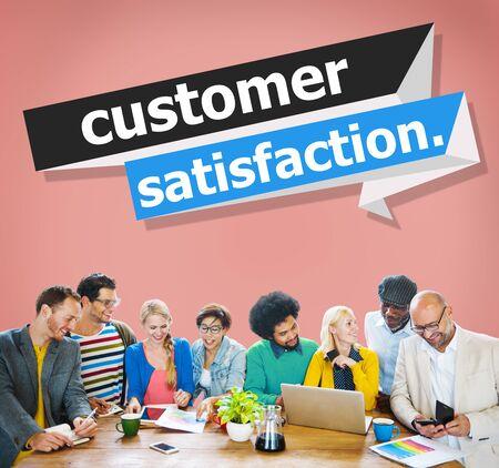 satisfaction client: Customer Satisfaction Service Effciency Consumer Concept